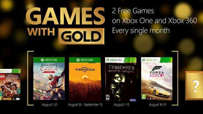 Leak sui Games with Gold di agosto