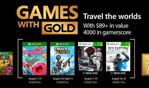 Svelati ufficialmente i Games with Gold di Agosto