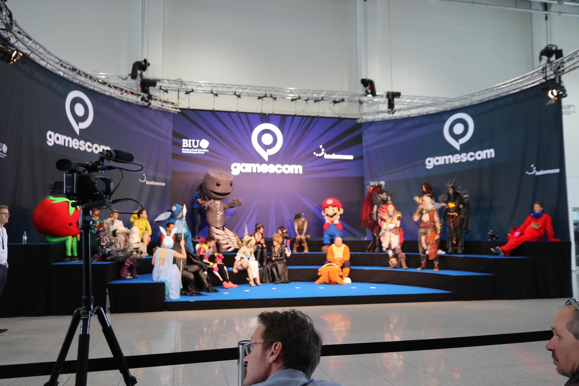 Photoshoot Gamescom 2017 Angela Merkel