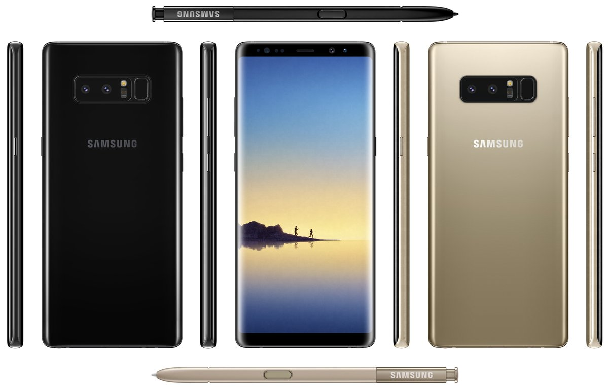 Galaxy Note 8 Black and Gold