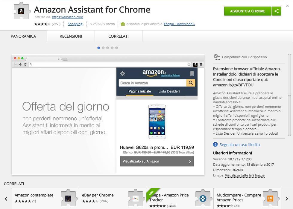 Amazon Assistant Google Chrome