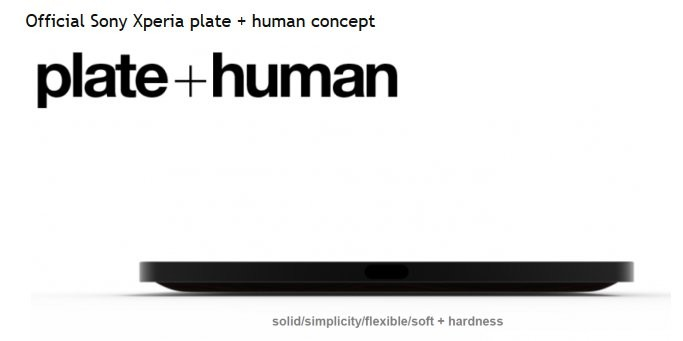 Sony Concept Xperia Plate Human