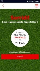 Vodafone Happy Friday Tidal Gratis