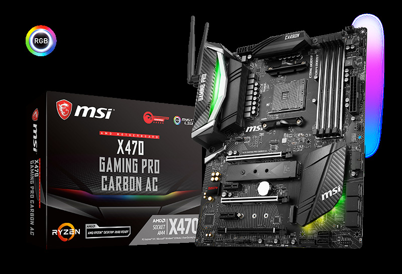 MSI X470 Gaming Pro Carbon AC Scheda Madre AMD Ryzen