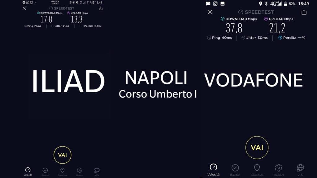 Test Copertura Iliad Napoli Corso Umberto I