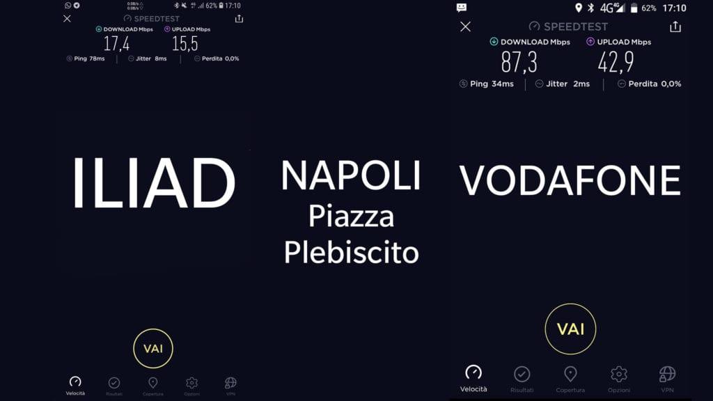 Test Copertura Iliad Napoli Piazza Plebiscito