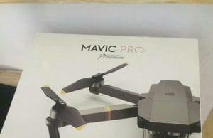 DJI Mavic Pro Platinum Box Confezione Scatola
