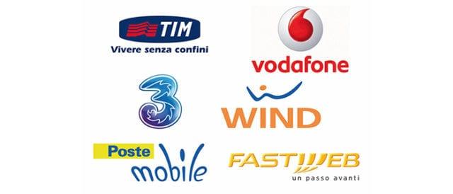 Tutti i principali operatori italiani di rete cellulare