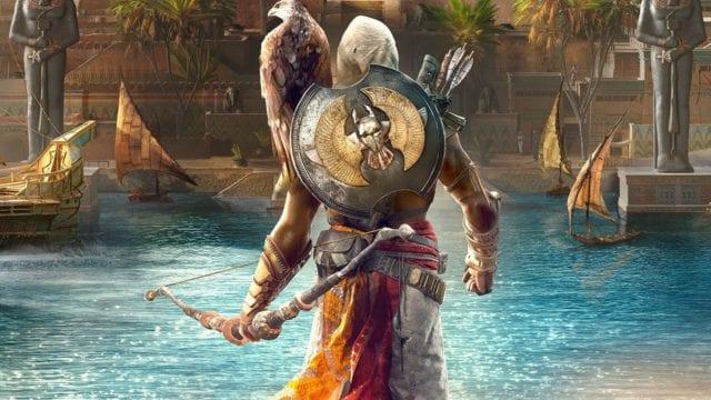 Assassin's Creed Origins Protagonista con Falco