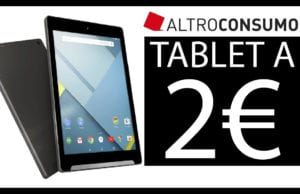 Tablet Altroconsumo Android a 2€