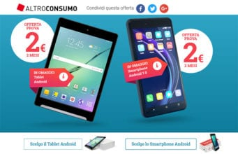 Offerta Altroconsumo Smartphone Tablet 2€