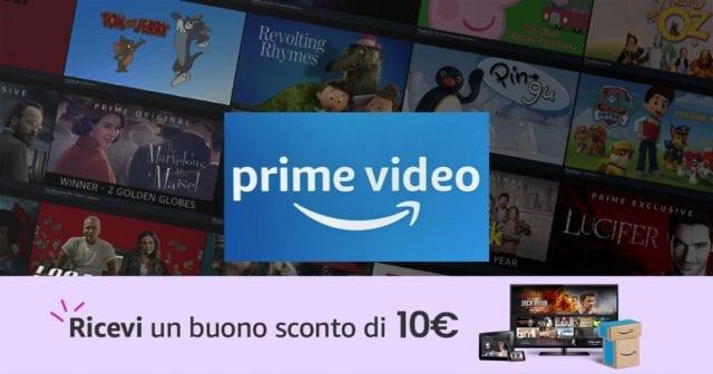 Amazon Prime Video regala buono 10€