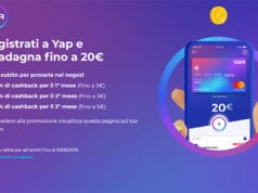YAP App, la Prepagata Mastercard che Regala 20€