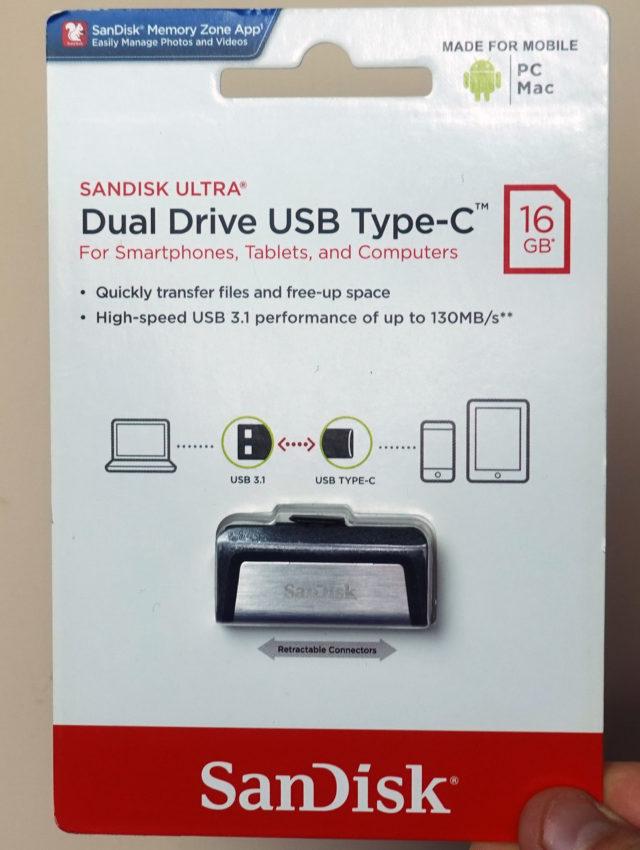 SanDisk Dual Drive Type-C Confezione