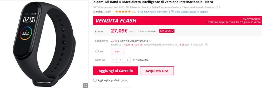 Xiaomi Mi Band 4 Miglior Prezzo