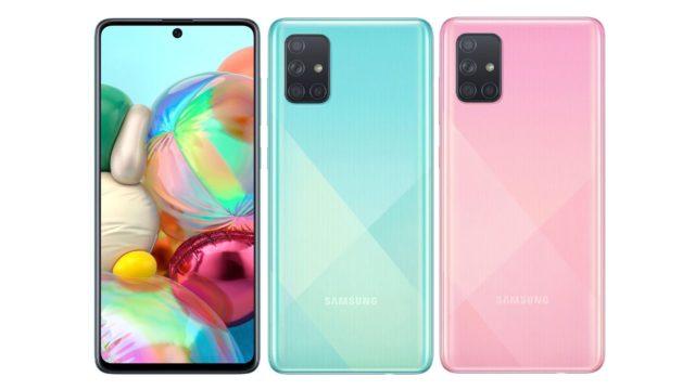 Samsung Galaxy A71 Fronte Retro