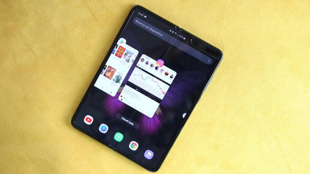 Samsung Galaxy Fold Schermate Multitasking