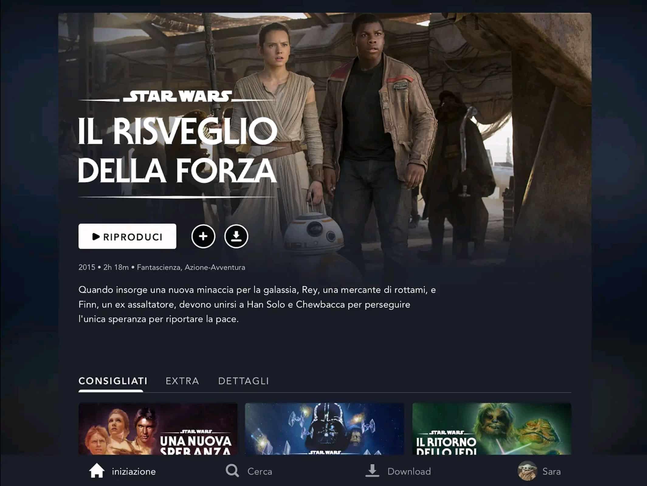 Disney Plus Star Wars Il Risveglio della Forza