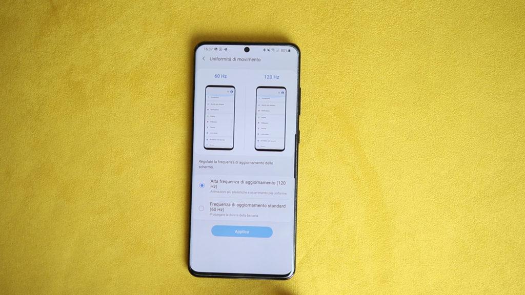 Galaxy S20 Ultra 5G Cambio Frequenza