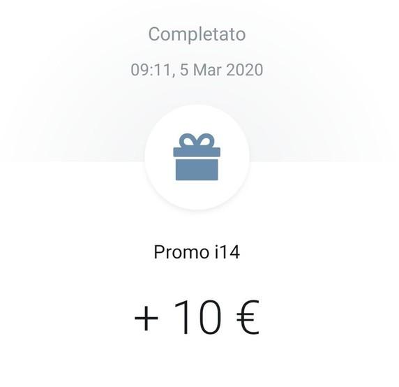 Screen Bonus Revolut 10 Euro