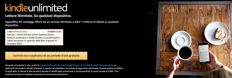 Promo Amazon Kindle Unlimited Gratis 2 Mesi