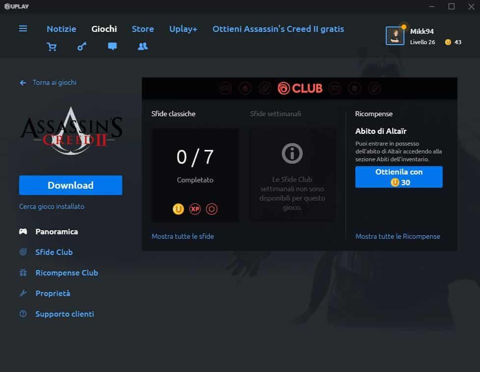 Assassin's Creed II Gratis Download Uplay