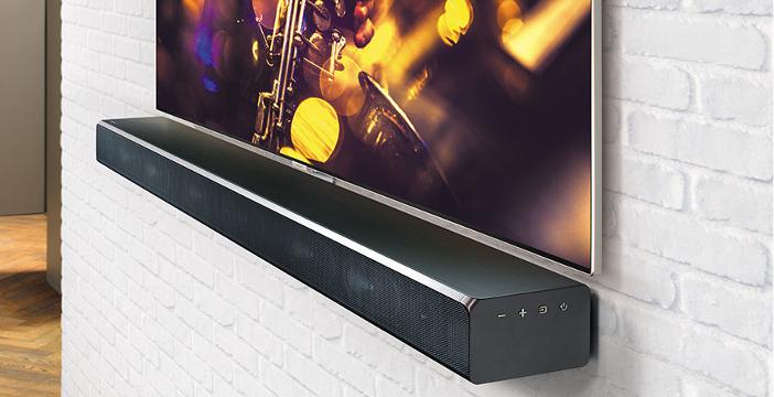 Soundbar Samsung attaccata a Muro