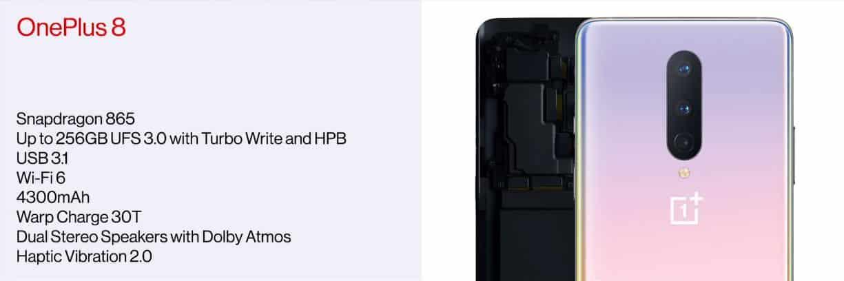 OnePlus 8 Scheda Tecnica Amazon