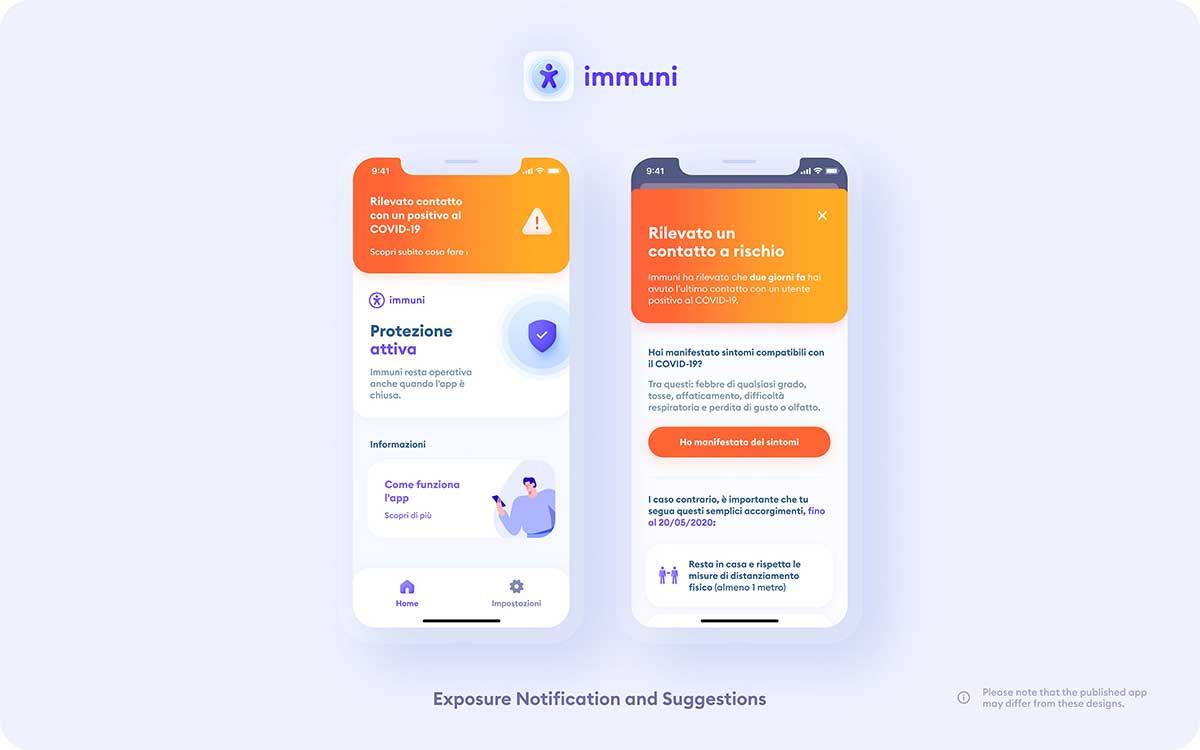Immuni App Schermata Protezione Attiva