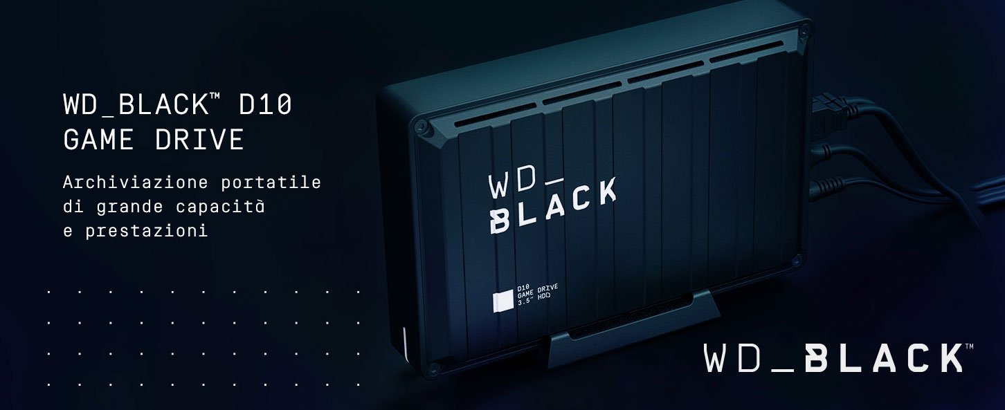 WD Black D10 Game Drive Hard Disk Esterno Xbox One PS4