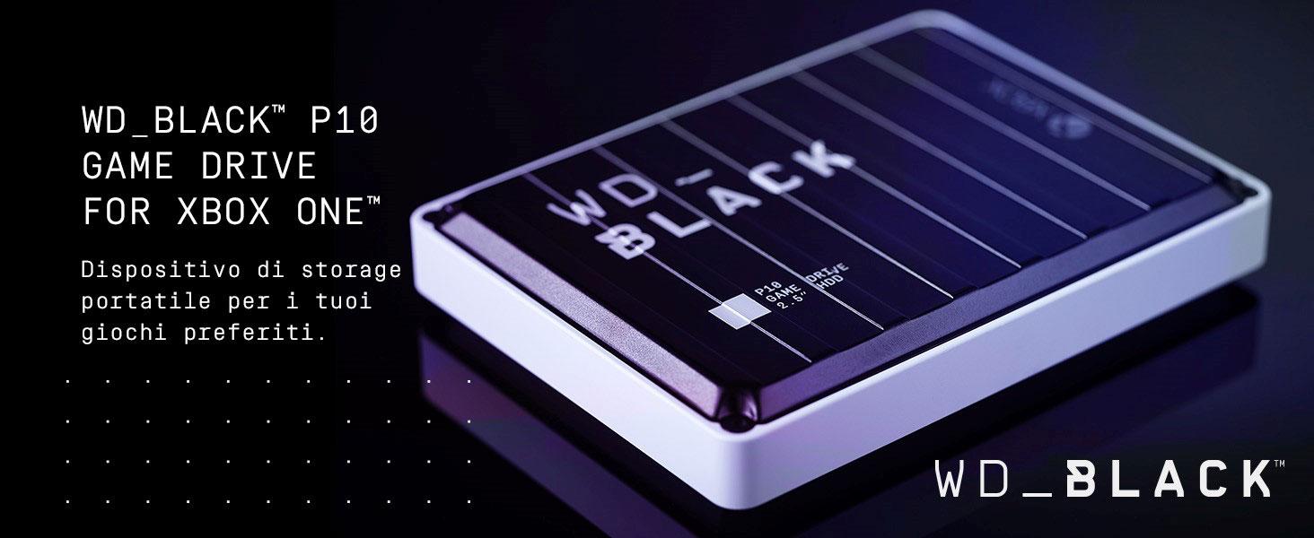 WD Black P10 Xbox One Game Drive Hard Disk Esterno