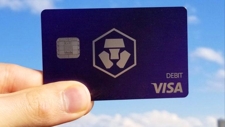 Carta MCO VISA Crypto.com Royal Indigo 500 MCO