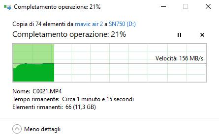 Test Trasferimento WD Black SN 750 Hard Disk