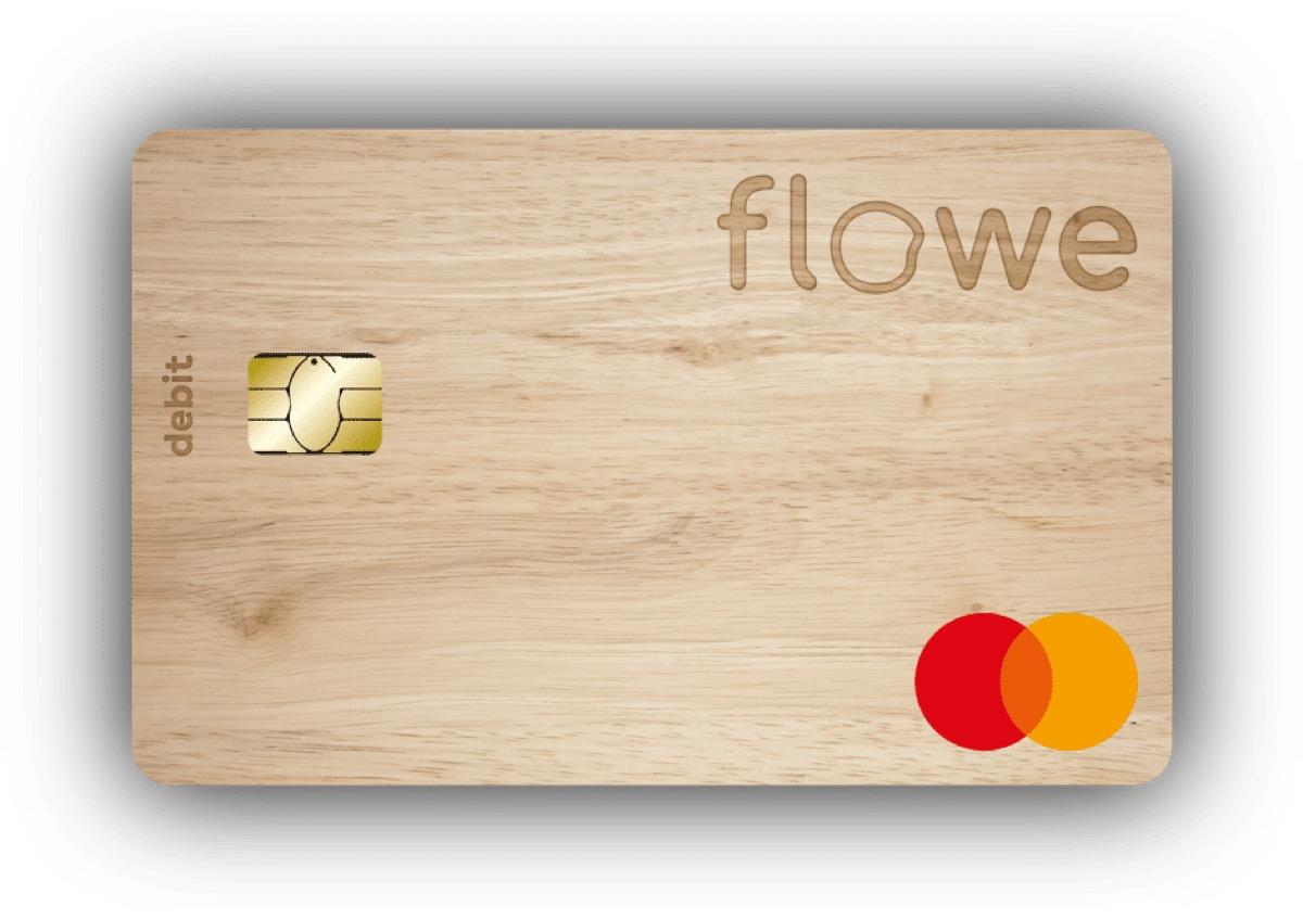 Flowe Carta Mastercard Debit Legno