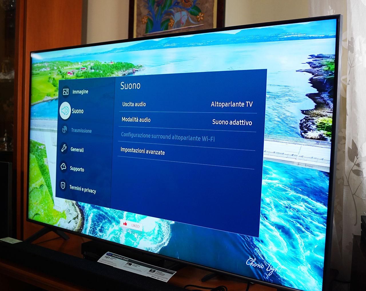 Samsung Q60T 2020 TV QLED 4K HDR Impostazioni Audio