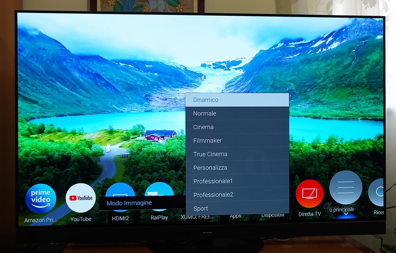 Panasonic HZ1500 TV OLED 4K HDR Colore