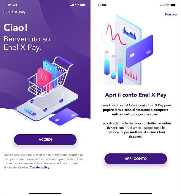 Enel X Pay Apertura Conto Schermata Iniziale Procedura