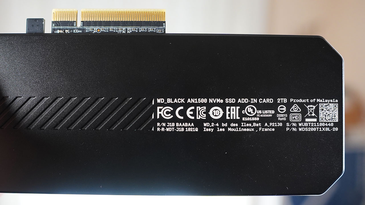 WD Black AN1500 Retro Backplate